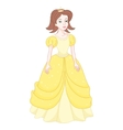Beautiful brunette princess naughty princess in vector image