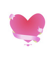 beautiful pink frame in the shape of a heart vector image vector image