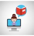book education online design girl vector image vector image