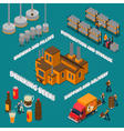 Brewery Isometric Composition vector image vector image