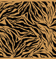 bright safari pattern background tiger animal skin vector image