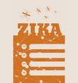 brochure or flyer design zika fever relative vector image vector image