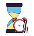 business hourglass clock and stairs vector image vector image
