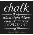 Chalk alphabet vector image