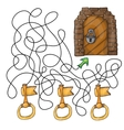 Choose the key to door - maze game for kids vector image vector image