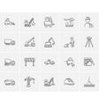 Construction sketch icon set vector image vector image
