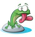 cute funny frog cartoon vector image vector image