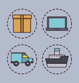 delivery and shipping design vector image