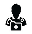 doctor icon male person profile avatar symbol sign vector image vector image