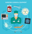 doctor surgeon concept vector image vector image