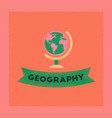 flat shading style icon geography lesson vector image vector image