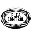 flea control stamp on white vector image vector image