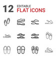flop icons vector image vector image