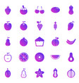 fruit gradient icons on white background vector image