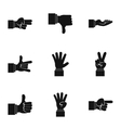 Gesture icons set simple style vector image vector image