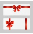 Gift Card Template with Ribbon vector image