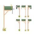 green mailbox set vector image