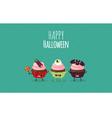 Halloween cake vector image vector image