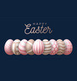 happy easter greeting card a horizontal banner vector image