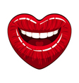 Heart shape lips vector image