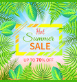 hot summer sale up to off tropical paradise advert vector image vector image