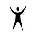 human with raised hands vector image vector image