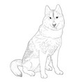 husky hand drawn sketch vector image vector image