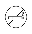 icon are no smoking vector image