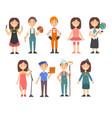 kids various professions set hairdresser vector image vector image