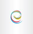 letter e colorful symbol vector image vector image