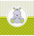 little hippopotamus baby vector image vector image
