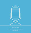 microphone on the air outline background minimali vector image