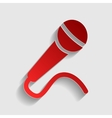 Microphone sign vector image vector image