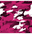 military camouflage pattern pink hand vector image vector image