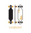 modern long board desk icons in outline vector image