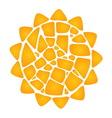 Mosaic Sun vector image vector image