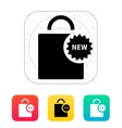 New shopping bag icon vector image