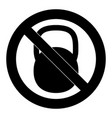 no training with dumbbell vector image vector image