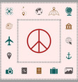 peace sign symbol elements for your design vector image