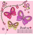 pink background with butterflies vector image vector image