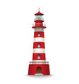 realistic red lighthouse building isolated vector image