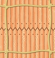 Ropes over the fence planks vector image