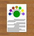 round scheme document vector image