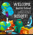 sale banner of back to school season promotion vector image vector image