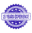 scratched 15 years experience stamp seal vector image