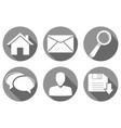 set round gray internet icons vector image