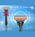 shaving razor ads realistic vector image