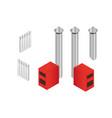 solid fuel boiler in isometry vector image