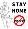 stat home covid19 vector image