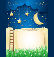 surreal landscape with stairway moon and copy vector image vector image